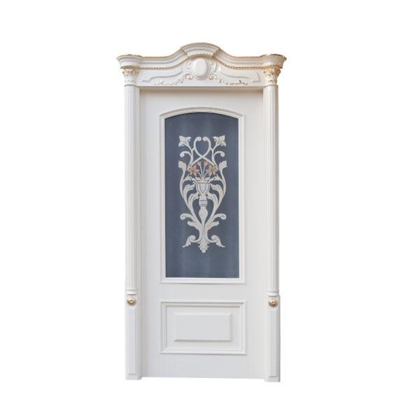 porta classica bianca e vetro