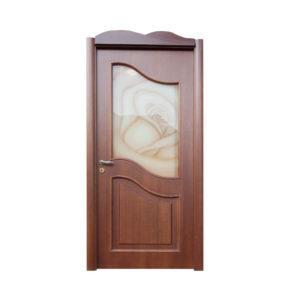 porta classica con vetro e rosa