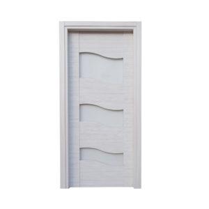 porta bianca con vetri ondulati